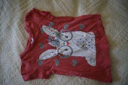 T-shirt czerwony zając