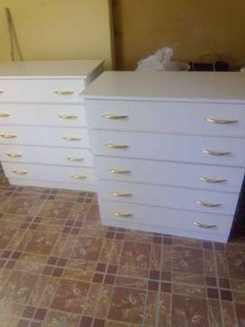 Brandnew white melamine chest drawers for sale