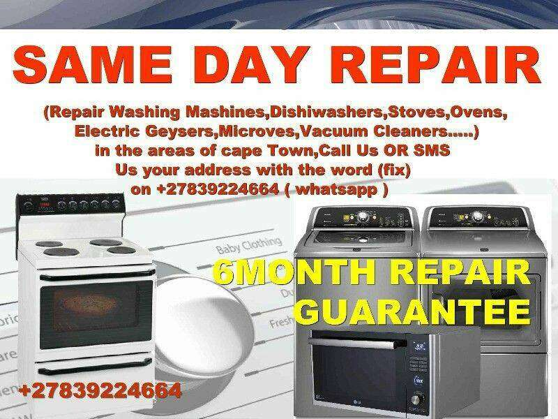 SAME DAY REPAIR 6Months Guarantee All areas of Cape town 0