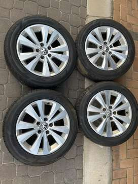 "5x112 OEM 16"" VW Golf 7 TSI Rims 85-90% Tread Left"