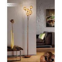 Stylowa elegancka lampa stojąca złota/brązowa GRETA 398-48 Paul Neuhau