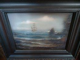 Картина, художник Ветров. Рама 19 века