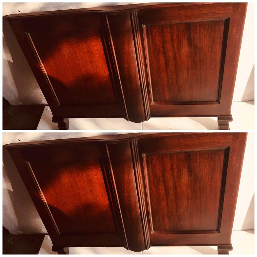 Identical Solid Wood Bed Boards. Both Included.