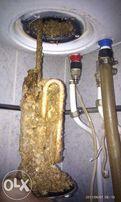 Чистка,ремонт и установка водонагревателей.