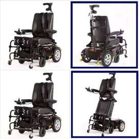 Power standing wheelchair with recline function