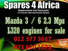 Mazda 3/6 2.3 MPS L320 engines for sale .