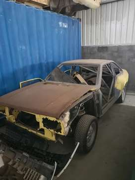 Lancia Beta Coupe with Roll cage