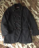 Серое осеннее пальто на подростка