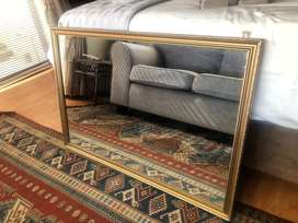 Golden Framed Mirror- Large