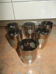 Стопки - стекло имитация металла, СССР