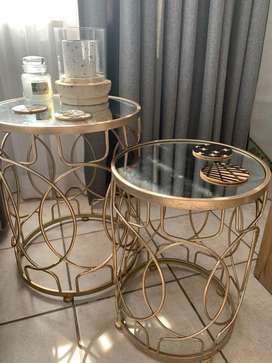 Two modern coffee side tables