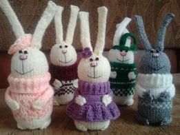 Вязанные игрушки (заяц)