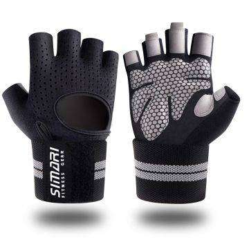 SIMARI gym/lifting/crossfit gloves with built in wrist wrap 0