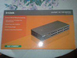25D-Link DES-1024A Коммутатор неуправляемый 24-портовый 100Мбит
