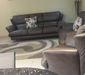 6 seater lounge suit ...versgae faux leather .