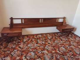 Antique Yellow Wood Bed Set