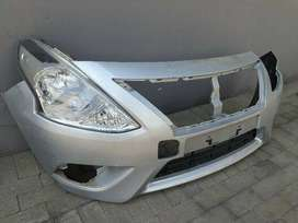 Nissan Almera Acenta Front Bumper and Rigth Headlight