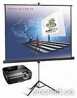 Аренда проектора в Полтаве и экрана 1.8х1.8м