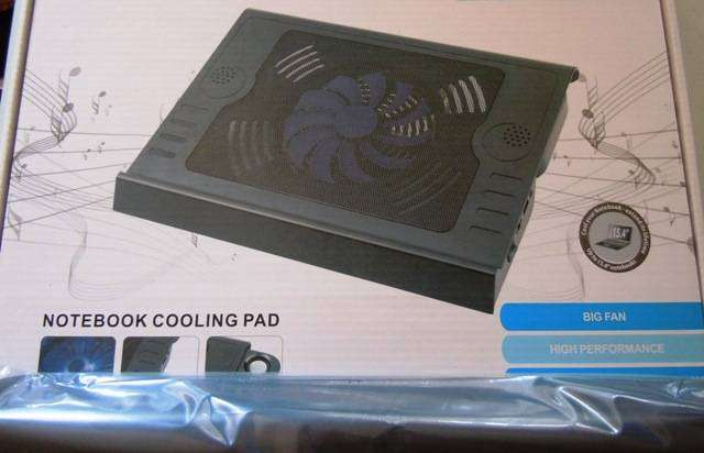 Laptop Cooling Fan with Audio Speakers 0