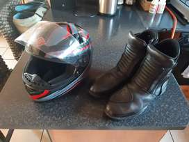 New bike helmet with boots