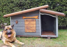 Buda dla psa xl z przedsionkiem