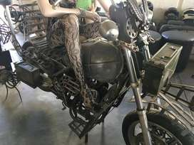 Steampunk motorcycle decor not running mannequin not included