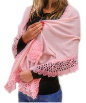 Палантин шарф теплый Роза