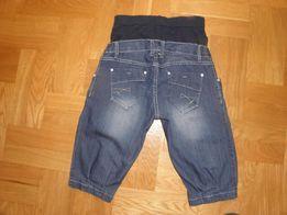 Spodenki, rybaczki ciążowe jeansowe, dżinsowe, rozm. XL