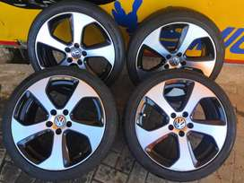 18 inch golf 7 rims and tyres al clean