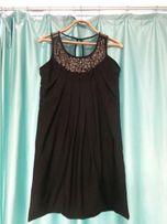 Красивое нарядное праздничное чёрное платье для беременных S 42 44