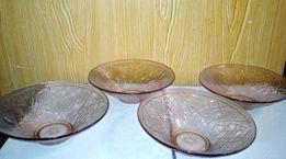 Набор стеклянных ваз для хлеба,фруктов