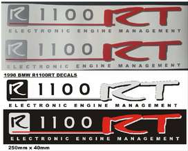 Stickers graphics decal kit for a 1998 BMW R1100 RT motorcycle