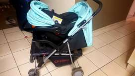 Chelino Stroller with carrier.