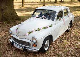 Auto do Ślubu na Wesele sesje FSO Warszawa 223 Fiat 125p, 126p Mercede