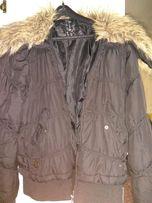 Осенняя куртка с меховым воротником