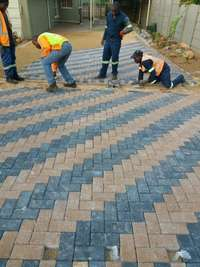 Image of Paving installation
