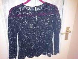 Czarna koronkowa bluzka ZARA roz. M