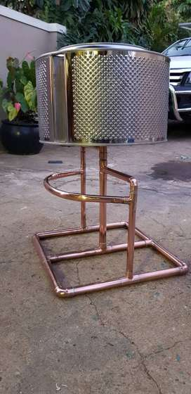 Stainless an copper fire stand