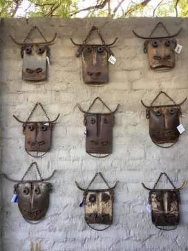 Metal Art - Cows made from recycled material