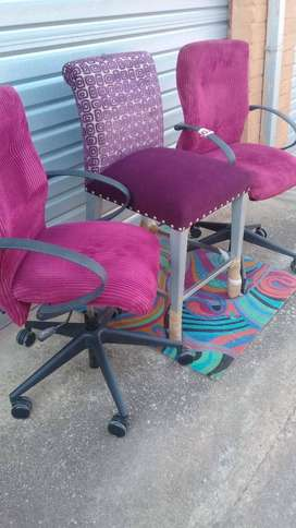 Typist Chairs and High Stool for Sale