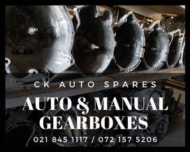 Auto and manual gearboxes for sale for most vehicles make and models.
