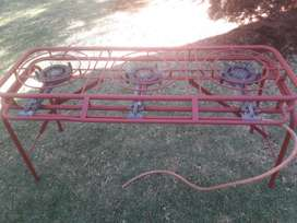 2 x 3 Gas burner. Second hand