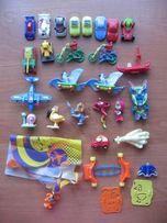 Игрушки из киндеров киндер-сюрприз машинки юла улитка самолет