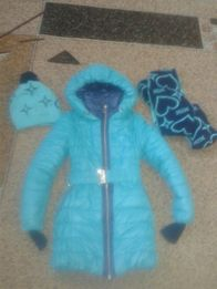 Зимнее пальто (на рост 134-146)