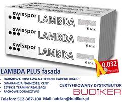 Styropian Grafitowy Swisspor LAMBDA PLUS FASADA 0,032 Dostawa Gratis !
