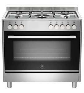 NEW: La Germania Europa 90cm Gas Hob & Electric Oven - Stainless Steel
