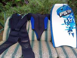 Two piece ladies wet suit and bodyboard forsale