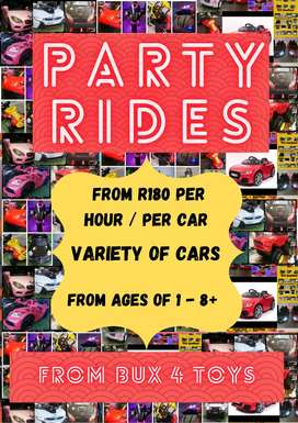 Party Rides From Bux 4 Toys