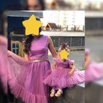 Прокат Продам Family look мама- дочка платье на первый годик