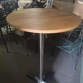 Bar tables 3 in stock with genuine oak tops.